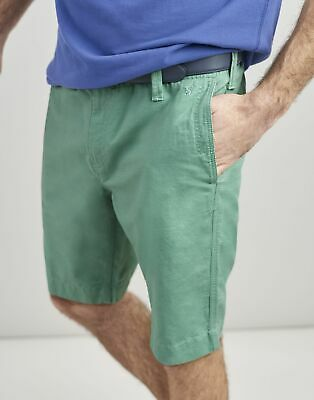 Joules Mens Laundered Linen Mix Oxford Chino Shorts - MINT GREEN