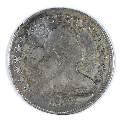 """1807 Draped Bust Half Dollar """"Holed"""" About Good"""