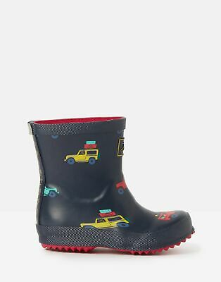 Joules 207341 Printed Wellie Boots in NAVYCAR