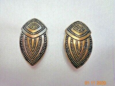 PAIR Antique Vtg  Button Covers ART DECO Designs