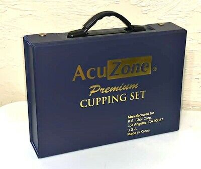 AcuZone Premium Quality Cupping Set 19 Cups 10 Acupressure Pointers Complete