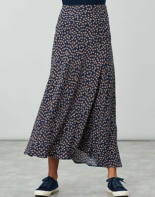 Joules Womens Coletta Bias Cut Skirt - NAVY SPOT