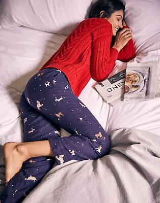 Joules Womens Snooze Woven Pyjama Bottoms - XMAS DOGS