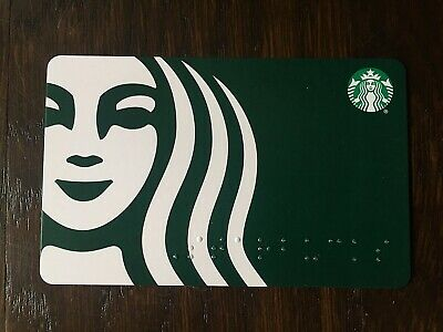 "Canada Series Starbucks ""STARBUCKS BRAILLE 2020"" Gift Card - New No Value"