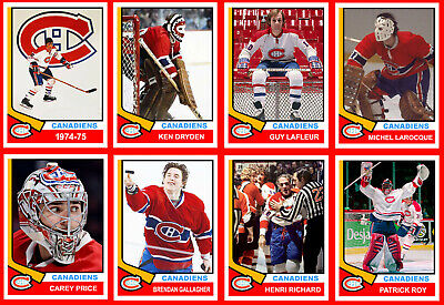 MONTREAL CANADIENS 1974-75 High Grade Hockey Card Style PHOTO CARDS U-Pick THICK
