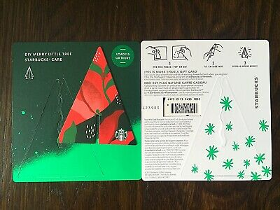 """Canada Series Starbucks """"LITTLE TREE COMBO 2019"""" Gift Card - Special '*' Marker"""