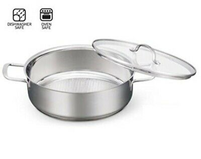 """Restaurant Equipment Crofton 11"""" Stainless Steel Cook Fry and Serve Pan"""