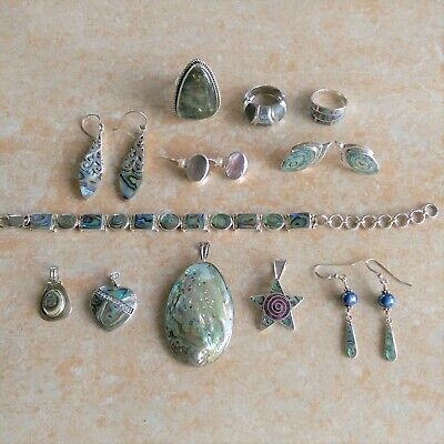~Abalone~ 925 Sterling Silver Jewelry Lot