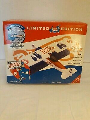 Limited Edition Pepsi Cola Co. Stearman 1932 Biplane Diecast Coin Bank Gearbox
