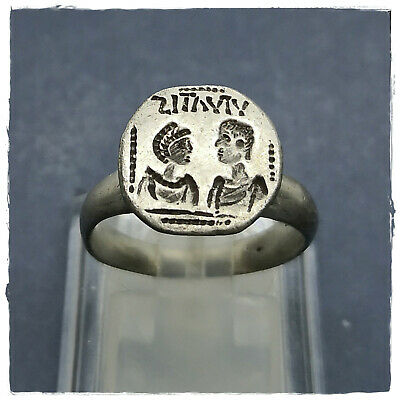 ** WEDDING - VIVATIS** ancient SILVER  BYZANTINE RING ! 6,36g
