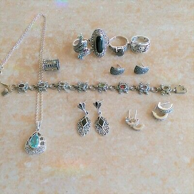 ~Marcasites~ 925 Sterling Silver Jewelry Lot