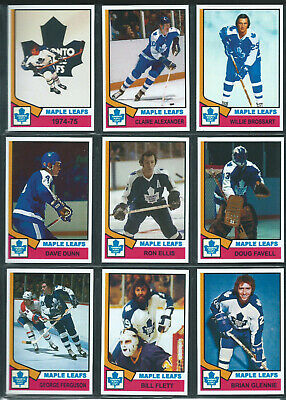 TORONTO MAPLE LEAFS 1974-75 High Grade Hockey Card Style PHOTO CARDS THICK U-PIC