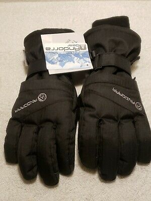 Andorra Women's Waterproof Quilted Thinsulate Insulation Snow Gloves Black New