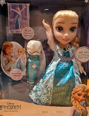 New Disney Frozen Sing A Long Elsa Doll With Microphone - Let It Go - New In Box