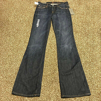 New NWT Women's 7 For All Mankind Bootcut Jeans Size 27 Original Fit