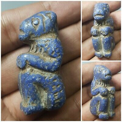 Wonderful roman old lapiz lazuli stone animal statue