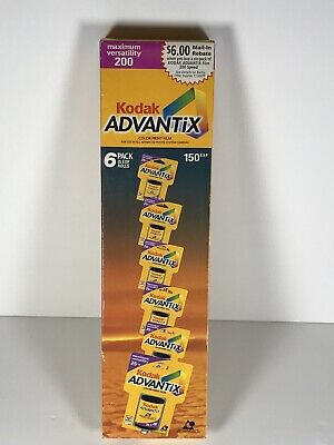 Kodak Advantix 200 Color Film. 6 Pack. 150 Exposures Total. New, Expired.