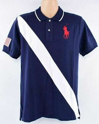 POLO RALPH LAUREN Men's BIG PONY Polo Shirt, Navy/White, size S (18-20 years)
