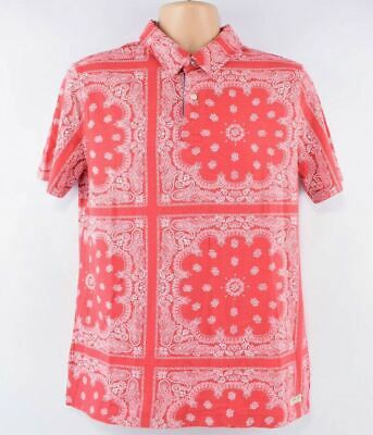 POLO RALPH LAUREN Men's Boys' Polo Shirt, Red/Patterned, size S (18-20 years)