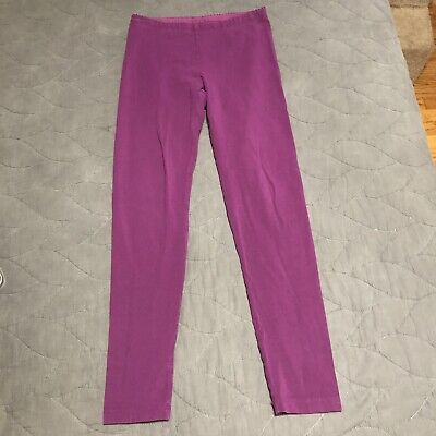 Girls tea collection leggings size 12 never worm purple full length