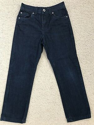 Boys Dark Blue Classic Cut Straight Leg Jeans From TU Age 6 Years
