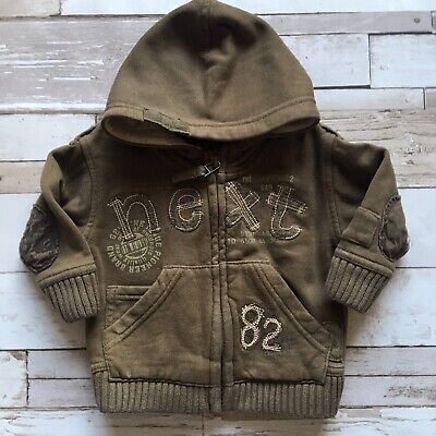 Baby Boy's Clothes 3-6 Mths- Brown Zip Up Hooded Jacket By NEXT 🐻🐻🐻