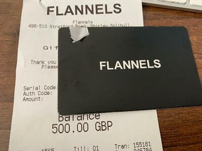 Flannels Gift Card £500 - Collection Only