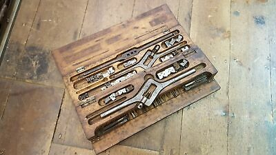 Large Vintage Tap & Die Set in Wooden Box 25190
