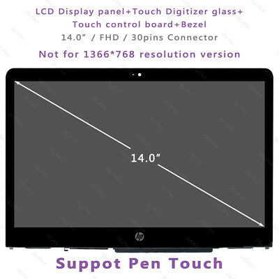 """LCD Touch Screen Bezel Assembly for HP Pavilion X360 14M-BA114DX 14/"""" FHD 1080P"""