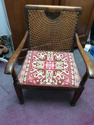 Beautiful Early 20th Century Liberty Style Bergere Chair & Tapestry Base.