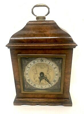 ELLIOTT LONDON Burr Walnut Bracket Mantel Clock : GERRARD & CO REGENT ST LONDON