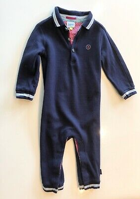 Ted Baker Dark Blue Body Suit Boys Size 12-18 Months