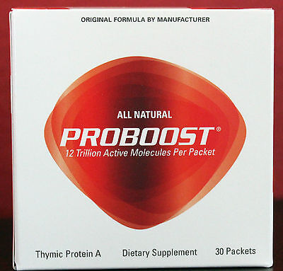 NEW Genicel PROBOOST Thymic Protein A 30 packets Exp Date 10/2022 - FRESH