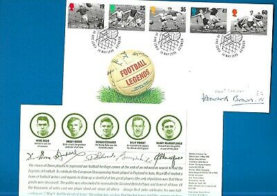 GB Euro96 postal cover signed by Howard Brown the stamp designer