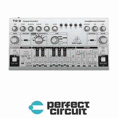 Behringer TD-3  (Silver) Analog Bass Desktop SYNTHESIZER NEW - PERFECT CIRCUIT