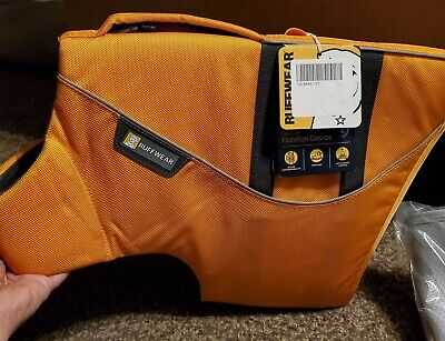 Ruffwear Float Coat Dog Life Jacket Large L Wave Orange Yellow 32-36 in. New