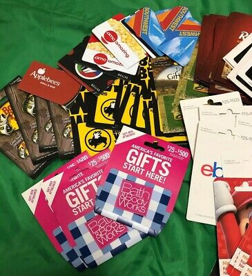 100 Gift Cards No Cash Value Subway Marshall's Olive Garden & More Collectible