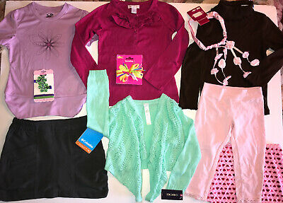 Lot Girls Clothes Sz 4 NWT Columbia Champion Maggie & Zoe Old Navy Candies NWT