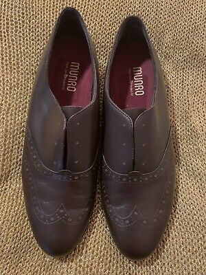 Bnwot Munro Chocolate Brown Slip On Brogues Sz 10.5 41