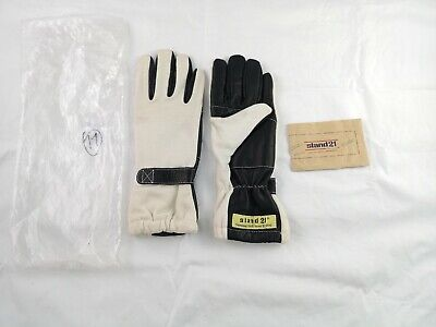 Stand 21 Classic Leather Racing Gloves Size 11 Homolgated FIA 86 IS0 6940 White