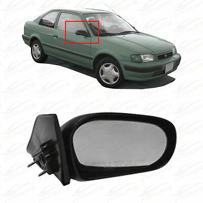 Mirror Compatible with 1989-1995 Toyota Pickup Manual Manual Folding Corner Mount with Single Glass Paintable Passenger and Driver Side