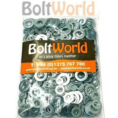 BZP DIN125A BRIGHT ZINC PLATED * PACK OF 250 M4 HEAVY DUTY FORM A WASHERS