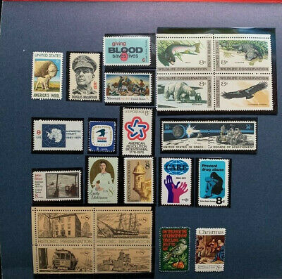 1971 US Mint Year Set - 23 Commemorative Stamps MNH Lot - STAMPS ONLY