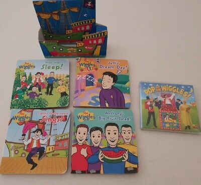 Original Wiggles group.  Books Set x 4 and DVD nursery rhymes and songs.