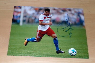Filip Kostic Hamburger Sv, Serbia, Originale Firmato Photo 20x27 cm (8x10)