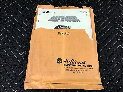 Williams Defender Arcade Game Machine Manual Schematics Parts Manual Packet