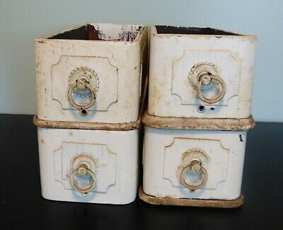 Vintage Early 1900's SINGER TREADLE Sewing Machine Set of 4 Drawers & 2 Frame