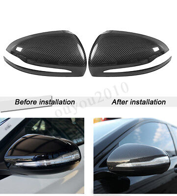 Mercedes BENZ W205 W213 W222 X253 Real CARBON FIBER Side Mirror Cover LHD