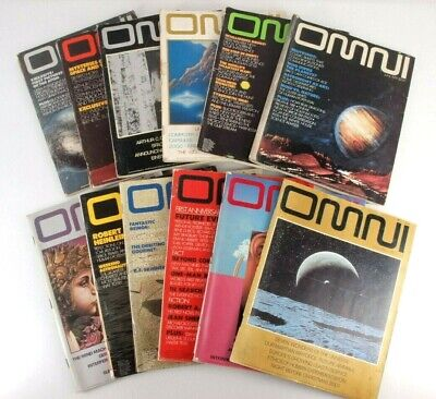 Vintage Omni Magazine 1979 Full Year Lot of 12 Science & Sci Fi  Publication