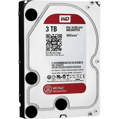 "Western Digital WD Red 3.5"" 3TB SATA Internal NAS Hard Drive Storage HDD 5400RPM"